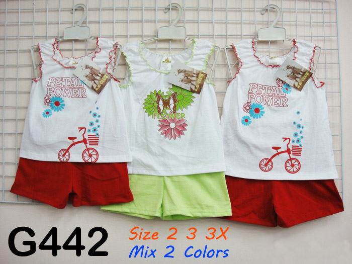clothing sets for girls wholesale